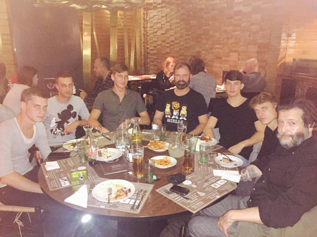 Dinner with Sam, Kolos Schilling & the boys of SAMtheagency in Budapest